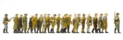 Preiser 16577 H0 - Prisioneros de guerra rusos. 22 figuras en miniatura sin pintar.