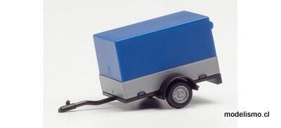 Herpa 51576-003 Remolque de coche con lona abierta, lona azul
