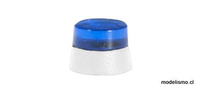 Herpa 053570 Accesorios balizas giratorias planas para camiones, azul transparente