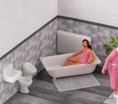 Faller 180993 H0 Set de cerámica para baño