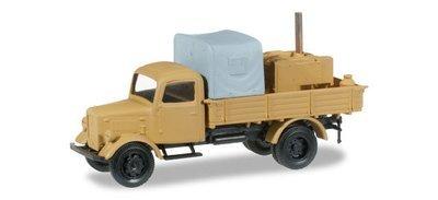 """Herpa 745017 Camión con cocina de campo, madera y cubierta de lona """"arena beige"""""""