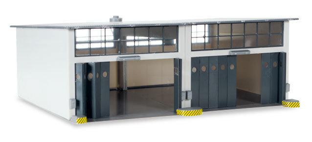 Herpa 745857 Conjunto de construcción Instalación de reparación de 2 puestos, longitud 220 mm x anchura 190 mm x altura 85 mm