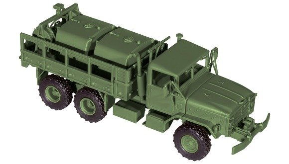 Roco miniTank 05042 M 923 con la estación de bombeo del tanque de combustible y los neumáticos de una sola rueda