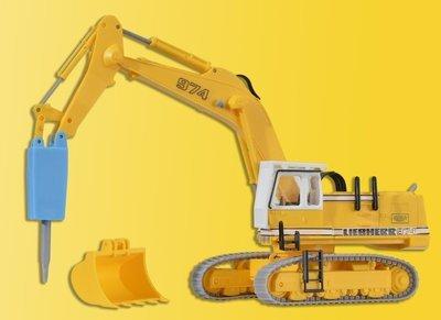 Kibri 11271 H0 LIEBHERR 974 con el cincel de demolición y jaula protectora