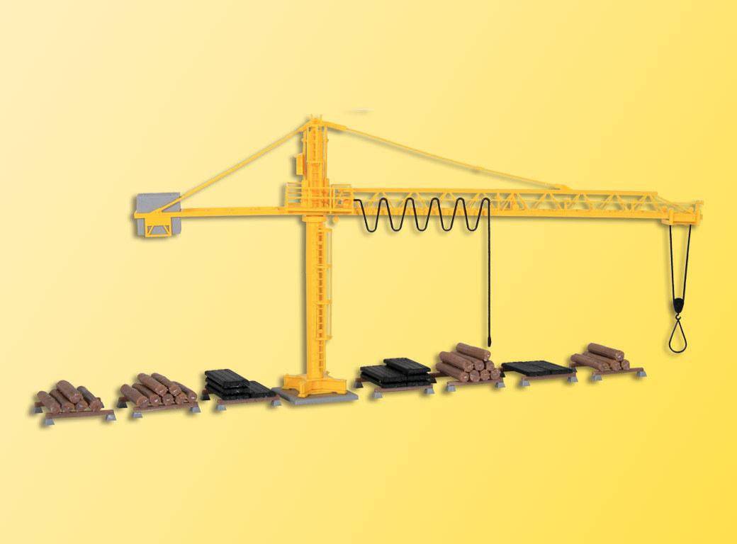 Kibri 39817 H0 grúa con el depósito de madera
