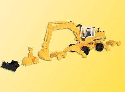 Kibri 11264 Excavadora de ruedas Liebherr H0 con archivos adjuntos A922