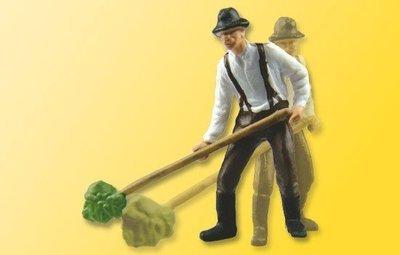 Viessmann 1522 H0 granjero con plena horca, moviéndose