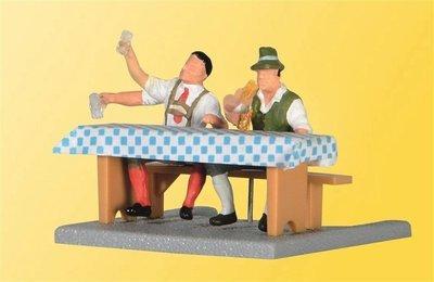 Viessmann 1525 H0 estar alojamiento cervecería al aire libre con los hombres, brazos móviles