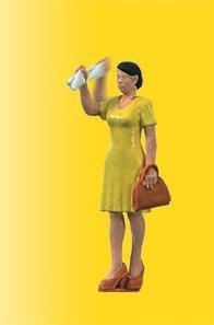 Viessmann 1555 H0 Mujer agitando su brazo
