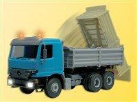 Viessmann 5171 Camión H0 Volquete MB ACTROS, con iluminación, linterna amarillo y caja de carga movible, FU