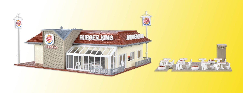 Reserva anticipada Vollmer 43632 H0 Burger King restaurante con el interior y la iluminación LED, kit funcional