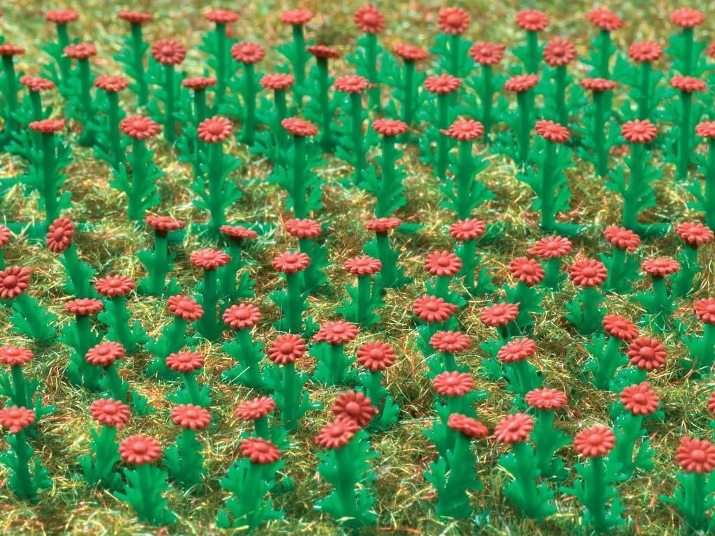 Vollmer 45116 Ásteres H0 rojo, 120 pedazos