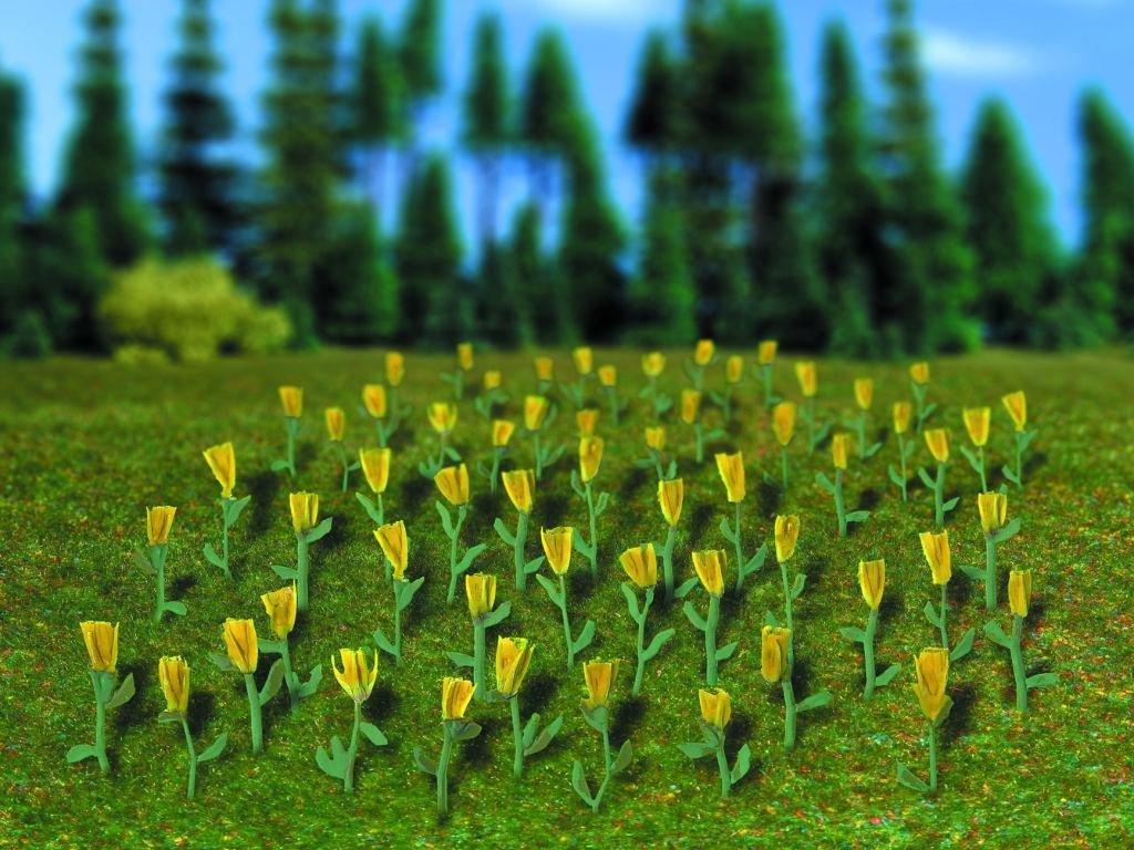 Vollmer 45122 H0 tulipanes amarillos, 120 piezas
