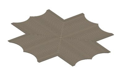 Vollmer 48241 H0 Calle placa de adoquines, x-cruce, L x 15 cm W 15