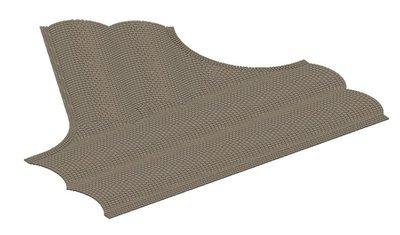 Vollmer 48242 H0 Calle placa de adoquines, 60 ° intersección, L x 22 cm W 19.5