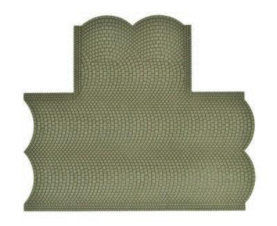 Vollmer 48243 H0 Calle placa de adoquines, 90 ° intersección, L 15.5 W x 13 cm