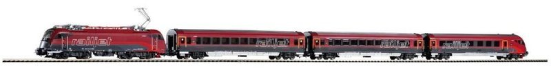 Piko 58132 Tren conjunto Railjet Rh 1216 (Expert) + 3 coches ÖBB - para Märklin