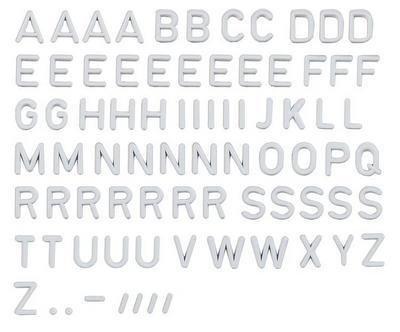 Faller 180965 ABC letras de la tienda