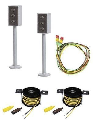 Faller 161656 H0 2 semáforos LED con posiciones de parada