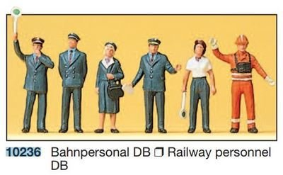 Preiser 10236 H0 - personal de ferrocarril DB 1989