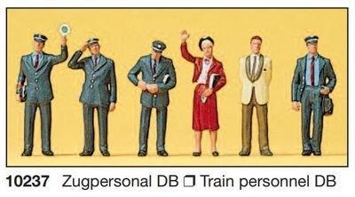 Preiser 10237 H0 - Tripulación del tren DB 1989