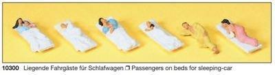 Preiser 10300 H0 - pasajeros acostados para dormir