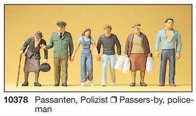 Preiser 10378 H0 - transeúntes, policía