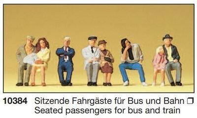 Reserva anticipada Preiser 10384 H0 - Pasajeros sentados para autobús y tren