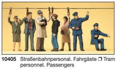 Preiser 10405 H0 - personal de tranvía. pasajeros