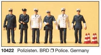 Preiser 10422 H0 - policías BRD