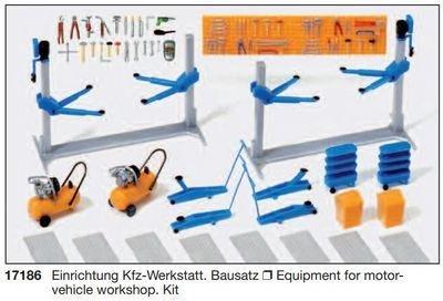 Preiser 17186 H0 - taller de reparación de vehículos. Kit