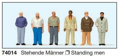 Preiser 74012 1:100 - Hombres de pie