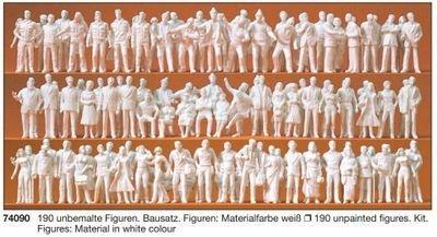 Preiser 74090 1:100 - 190 figuras sin pintar. kit