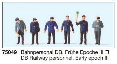 Preiser 75049 TT - personal del ferrocarril DB. Primera época