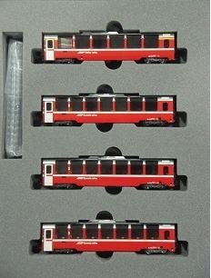 Kato N 10-1319 RhB <Bernina Express> extensión de conjunto de 4 vagones