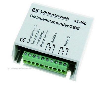 Uhlenbrock 43400 GBM Detector de presencia de pista con relé
