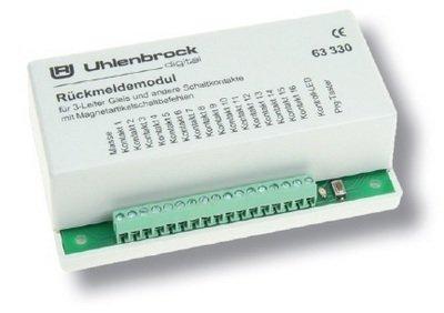 Uhlenbrock 63330 LocoNet Módulo de retroalimentación de Pista de 3 conductores