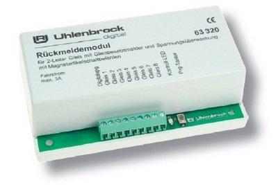 Uhlenbrock 63320 LocoNet Módulo de retroalimentación de Pista de 2 conductores