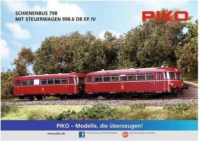 Cartel PIKO Schienenbus (52720) doblado