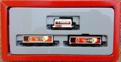Märklin Z conjunto de 3 vagones Varta (usado)