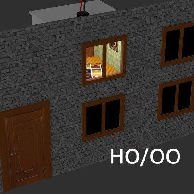Proses - H0 iluminadas, habitaciones decoradas para edificios