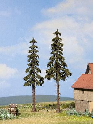 Noch 21925 Piceas de Noruega de tronco alto, 2pzs 12,5cm + 14 cm