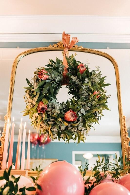 Blushing Boho Wreath