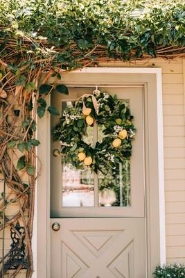 Luxe Lemon Wreath