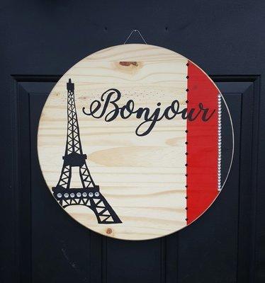 """""""Bonjour"""" Door Sign"""