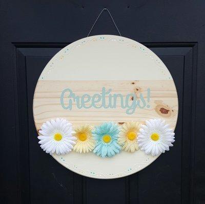 """""""Greetings"""" Door Sign"""