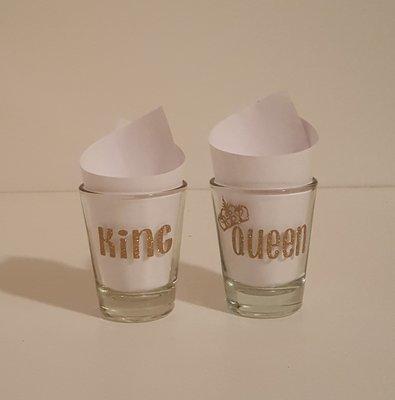 King & Queen Shot Glass Set