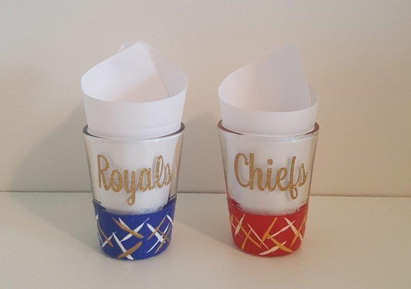 Kansas City Chiefs & Royals Shot Glass Set