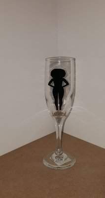 The Woman Silhouette Wine Glass