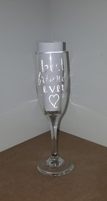 """Best Friend Ever"" Wine Glass"